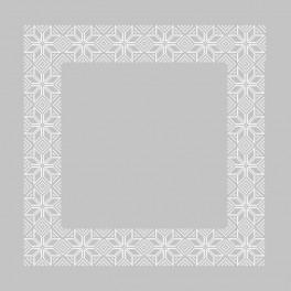 Wzór graficzny - Serwetka norweska - Haft krzyżykowy