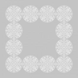 Wzór graficzny - Śnieżynkowa serwetka - Haft krzyżykowy
