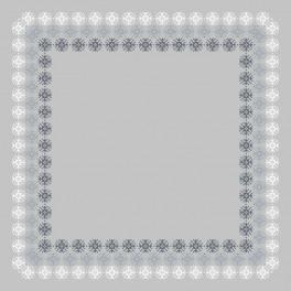Wzór graficzny - Serwetka z koronką I - Haft krzyżykowy