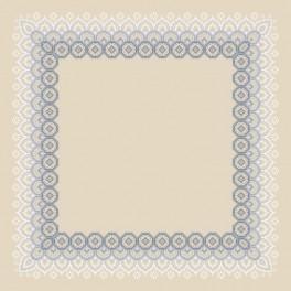 Wzór graficzny - Serwetka z koronką II - Haft krzyżykowy