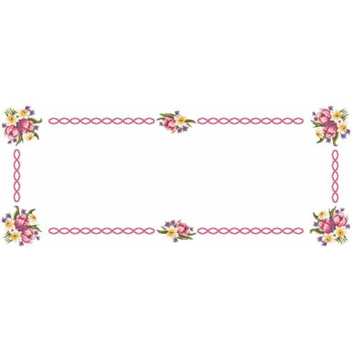 Wzór graficzny online - Bieżnik wiosenny