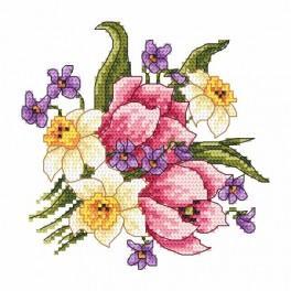 Wzór graficzny online - Wiosenny bukiecik