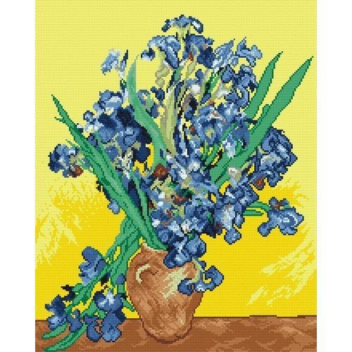 Wzór graficzny online - Irysy - V. van Gogh