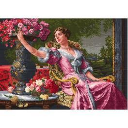W 734 Wzór graficzny online - Dama w liliowej sukni - W. Czachórski