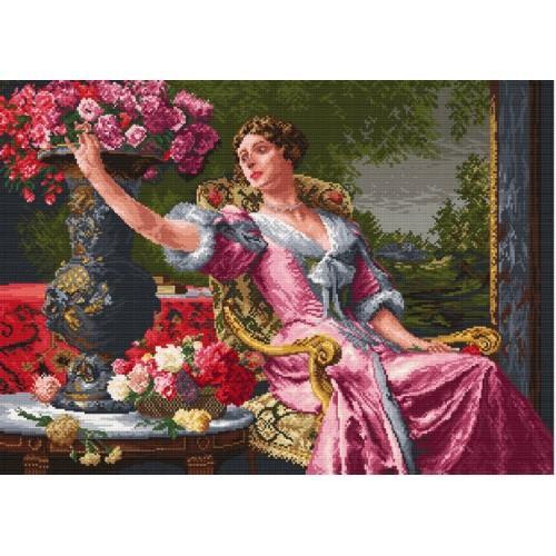 Wzór graficzny online - Dama w liliowej sukni - W. Czachórski