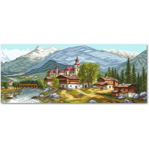 Wzór graficzny online - Kościół w górach
