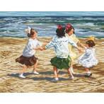 Wzór graficzny online - Dzieci bawiace się na plaży - E. Potthast