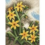 W 805 Wzór graficzny online - żółte kwiaty
