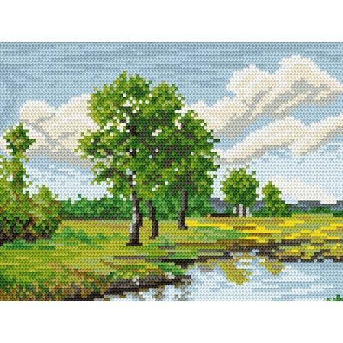 Wzór graficzny online - Nad rzeką