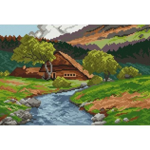 Wzór graficzny online - Górska chata