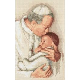 W 8204 Wzór graficzny online - Papież Jan Paweł II