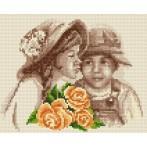 Wzór graficzny online - Dzieci z kwiatami