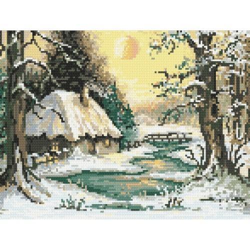 Wzór graficzny online - Zimowy zmierzch