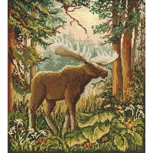Wzór graficzny online - łoś w lesie
