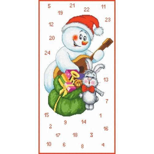 Wzór graficzny online - Kalendarz Adwentowy - Bałwanek muzykant