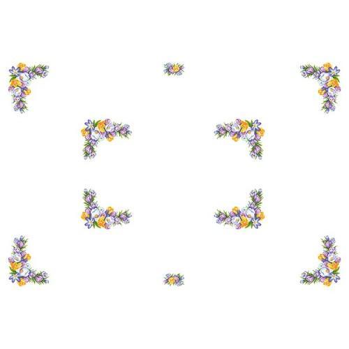Wzór graficzny online - Obrus z krokusami