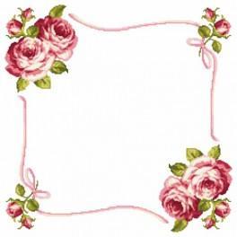 Wzór graficzny online - Serwetka z różami