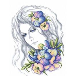 Wzór graficzny online - Zimowa dziewczyna