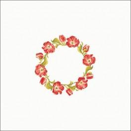 Wzór graficzny online - Obrus - Tulipanowy wianuszek 90x90 cm