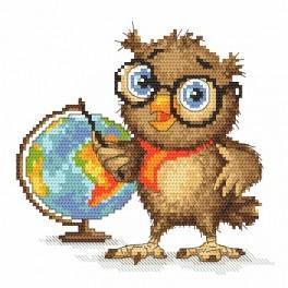Wzór graficzny online - Mała sówka - geograficzka