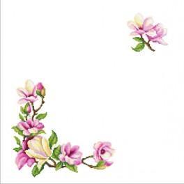 Wzór graficzny online - Serwetka z gałązką magnolii