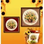 Wzór graficzny online - Słoneczniki z arabeską