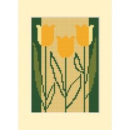 W 8413 Wzór graficzny online - Kartka urodzinowa - Trzy tulipany