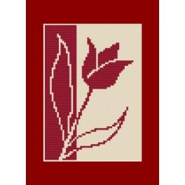 W 8422 Wzór graficzny online - Kartka urodzinowa - Tulipan