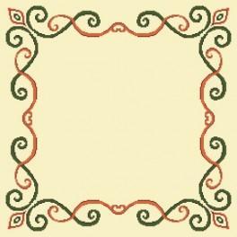 Wzór graficzny online - Serwetka z arabeską