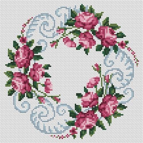 Wzór graficzny online - Zaplątane róże