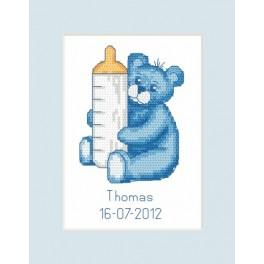W 8450 Wzór graficzny ONLINE pdf - Kartka - Narodziny - Miś