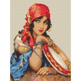 Wzór graficzny online - Piękna cyganka