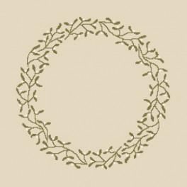 Wzór graficzny online - Serwetka z jemiołą