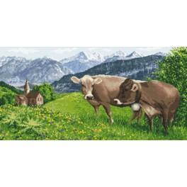 Wzór graficzny online - Alpejska łąka