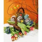 Wzór graficzny online - Pisanki - kolorowe kwiaty