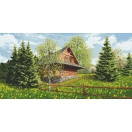 Wzór graficzny online - Chata góralska - wiosna