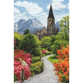 Wzór graficzny online - Alpejski park