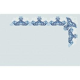 Wzór graficzny online - Serwetka niebieska