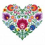 Wzór graficzny online - Etniczne serce