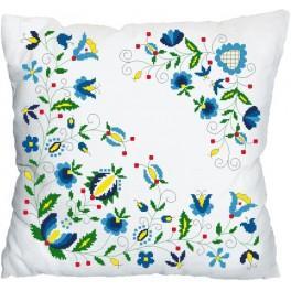 Wzór graficzny online - Poduszka - Kaszubskie kwiaty