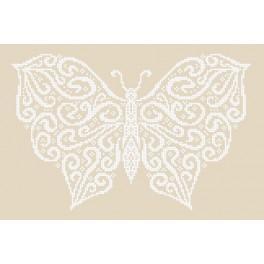 Wzór graficzny online - Zimowy motyl