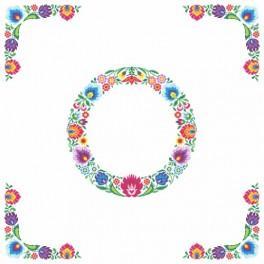 Wzór graficzny online - Obrus etniczny - koło