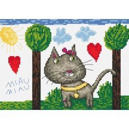 Wzór graficzny online - Miau, miau
