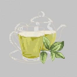 W 8693 Wzór graficzny online - Zielona herbatka