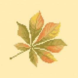W 8698 Wzór graficzny online - Liść kasztanowca