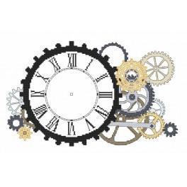W 8701 Wzór graficzny online - Zegar steampunkowy