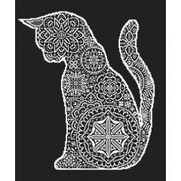 Wzór graficzny online - Koronkowy kot