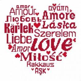 W 8826 Wzór graficzny online - Love
