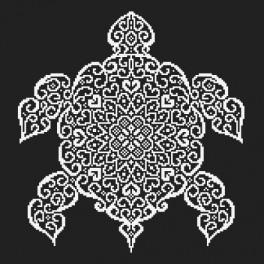 Wzór graficzny online - Koronkowy żółw