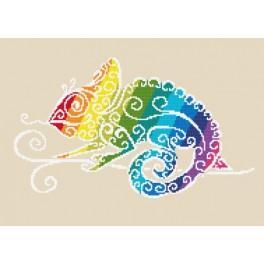 Wzór graficzny online - Tęczowy kameleon